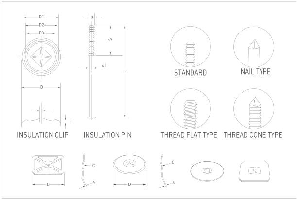 ARC TYPE WELDING PIN & CLIP